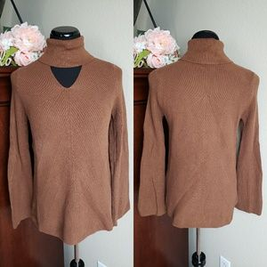Chicos Bell Sleeve Key Knit Sweater